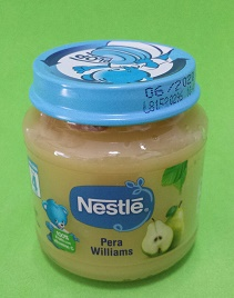 Alimento Nestle Pera Williams 130g desde 4 meses